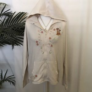 Disney Zip Hoodie Embroidered, Tigger, Sz XL
